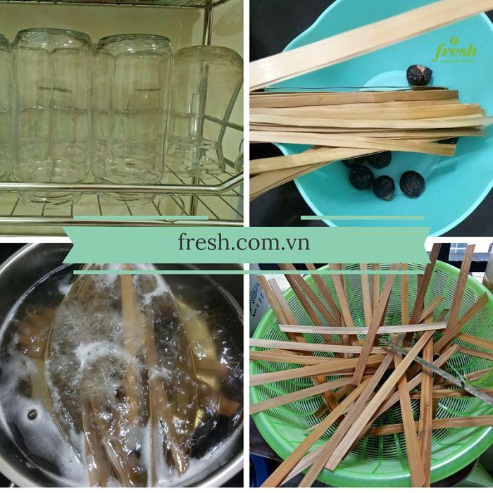 nguyên liệu ngâm chanh đào mật ong