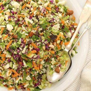 giảm cân hiệu quả với salad súp lơ, bắp cải