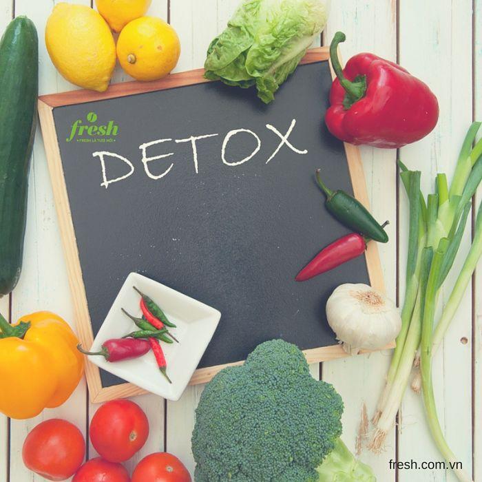 uống gì để giảm cân, gợi ý nước detox