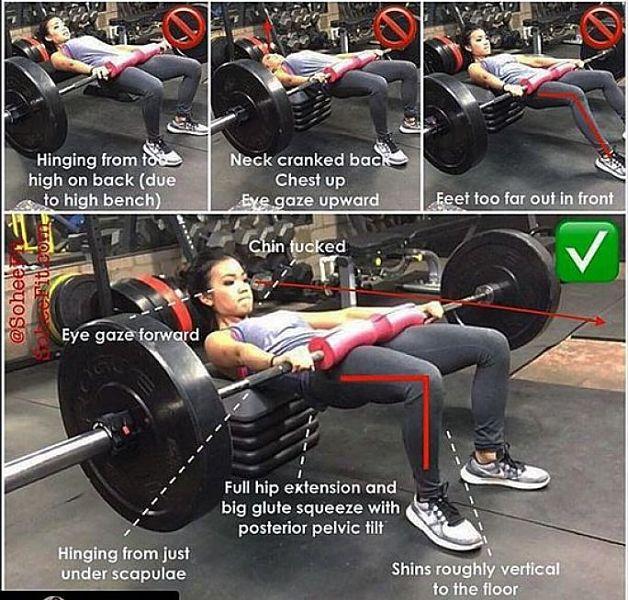 hip thrust bài tập mông cho nữ hiệu quả