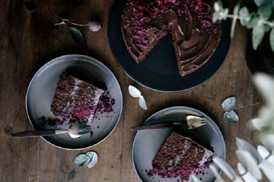 bánh ngon với bột cacao