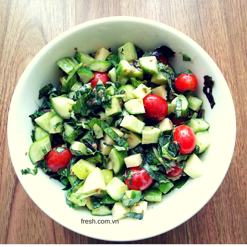 rau xanh, củ quả có thể giúp giảm căng thẳng, stress nhanh