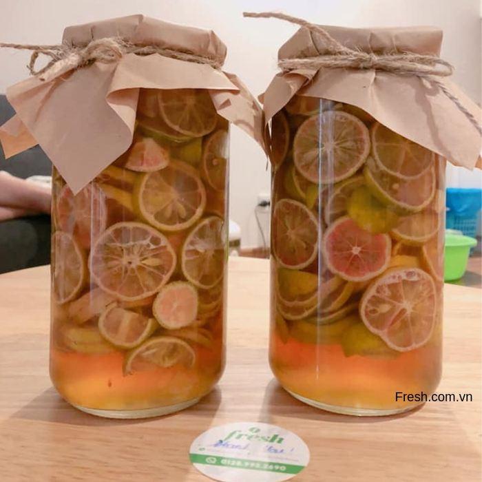 chanh đào ngâm mật ong nhà fresh.com.vn