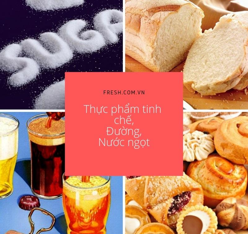 thực phẩm tinh chế, đường có thể làm tăng nguy cơ mọc mụn lưng, ở mặt