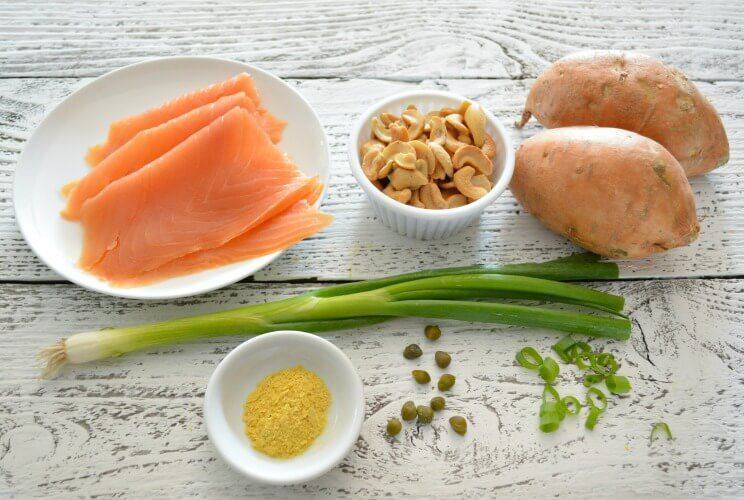 khoai lang nướng cá hồi từ fresh
