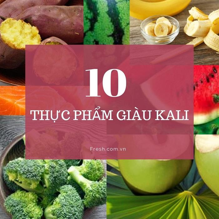 nguồn thực phẩm giàu kali/ fresh.com.vn