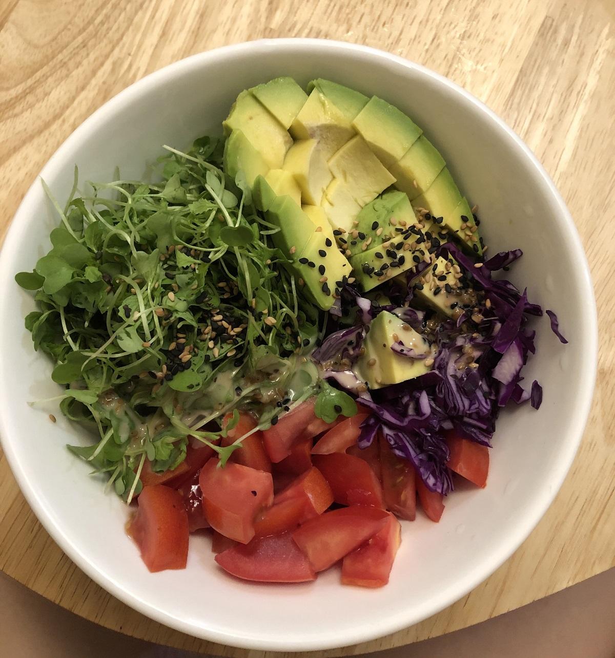 cách làm salad bơ giảm cân